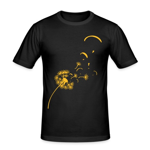 Pusteblume Löwenzahn Gleitschirm Vektor - Männer Slim Fit T-Shirt