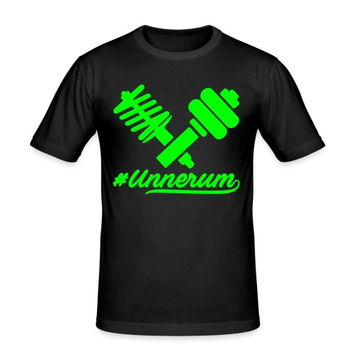 Logo #Unnerum - Männer Slim Fit T-Shirt