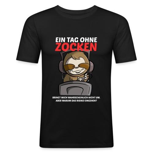 Ein Tag ohne Zocken Sloth - Männer Slim Fit T-Shirt