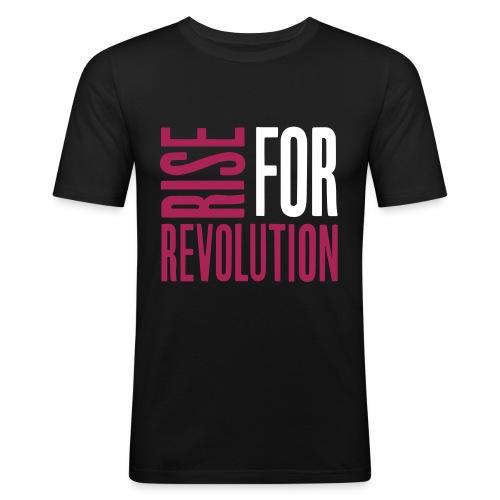 rise for rev logo - Men's Slim Fit T-Shirt
