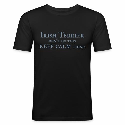 Irish Terrier keep calm - Männer Slim Fit T-Shirt