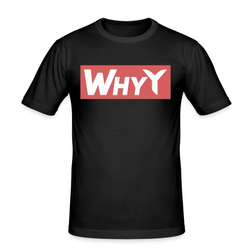 Block Red | WhyY - Men's Slim Fit T-Shirt