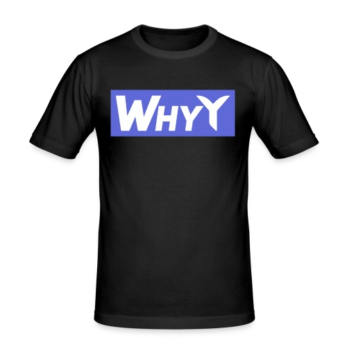 Block Blue | WhyY - Men's Slim Fit T-Shirt