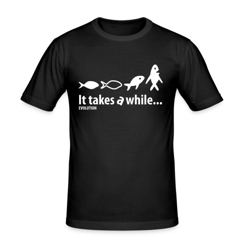Evolution | Wit | M - slim fit T-shirt