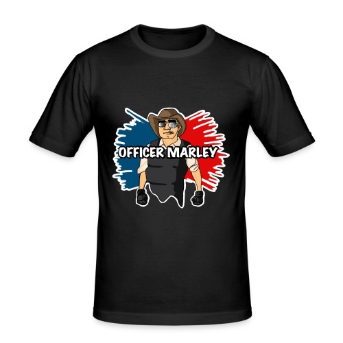 Officer Marley t shirt 1 png - Men's Slim Fit T-Shirt