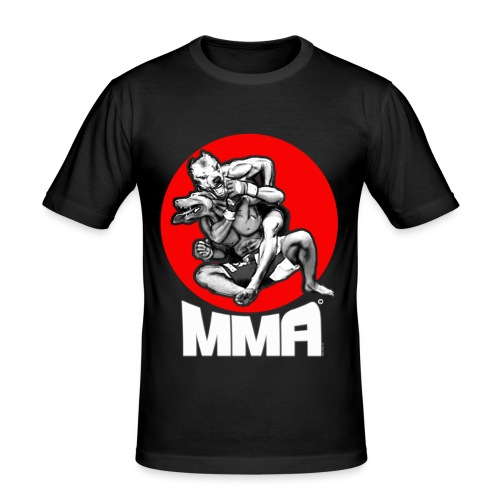 MMA PITBULLS RED - Slim Fit T-shirt herr