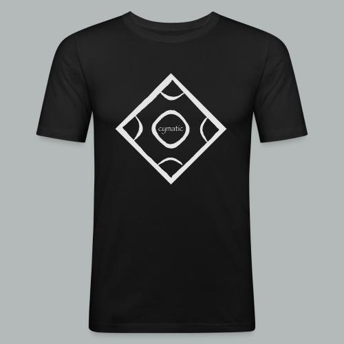 CYMATIC LOGO light greyL - Männer Slim Fit T-Shirt