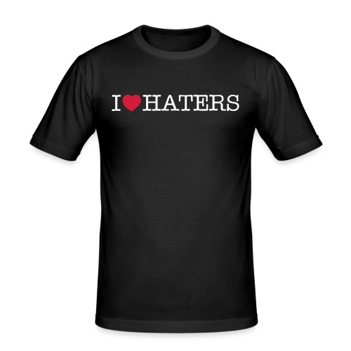 I love haters - Männer Slim Fit T-Shirt