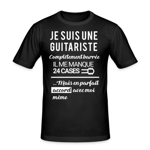 tshirt femme je suis une guitariste - T-shirt près du corps Homme