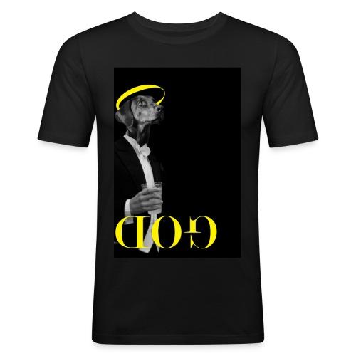 GOD jpg - Mannen slim fit T-shirt