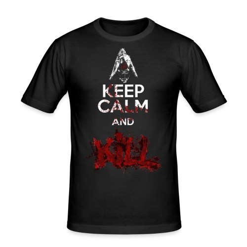 Keep Calm and Kill Nino Seiseisei - Maglietta aderente da uomo