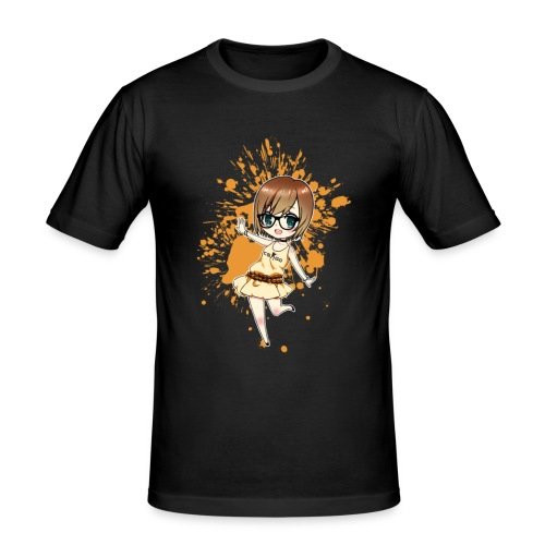 Luuva-Chibi-yellow - Männer Slim Fit T-Shirt