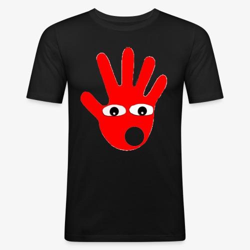 Hände mit Augen - T-shirt près du corps Homme