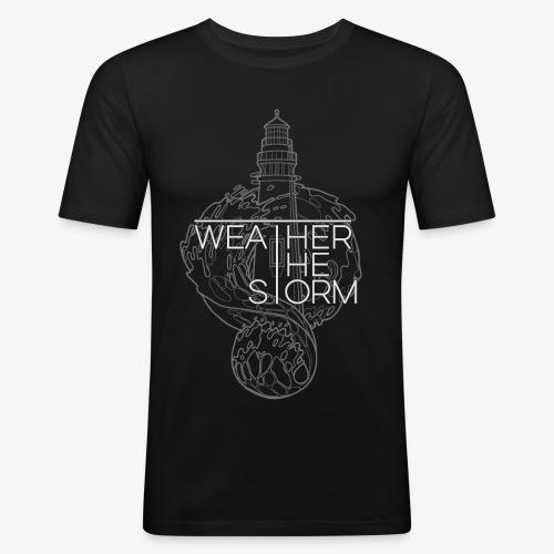 Weather The Storm Logo - Maglietta aderente da uomo