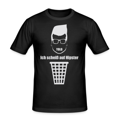 Anti Hipster White - Männer Slim Fit T-Shirt