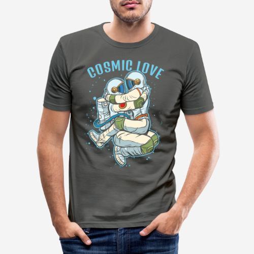 kosmische Liebe Astronautenraum - Männer Slim Fit T-Shirt