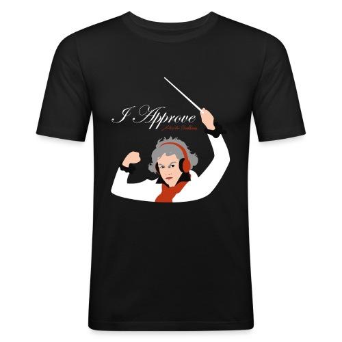 I Approve (White) - Slim Fit T-shirt herr