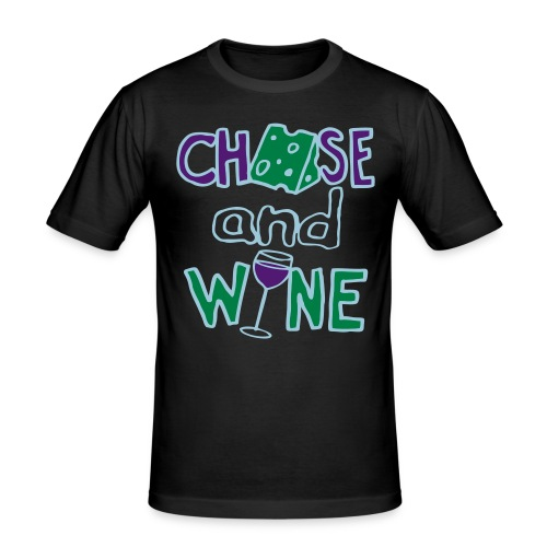 CHEESE and WINE - Men's Slim Fit T-Shirt