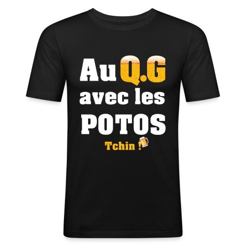 Tous au QG !!! - T-shirt près du corps Homme