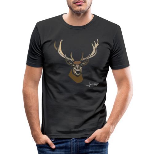 cerf-spread - T-shirt près du corps Homme