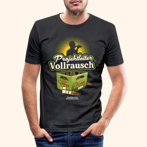 Bier Saufen T Shirt Projektleiter Vollrausch® - Männer Slim Fit T-Shirt
