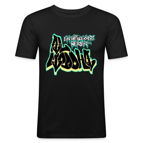 al ddha naggsch comp inv png - Männer Slim Fit T-Shirt