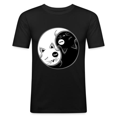 Yin Yang katze flex - Männer Slim Fit T-Shirt