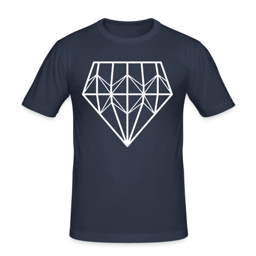 Diamond - Miesten tyköistuva t-paita