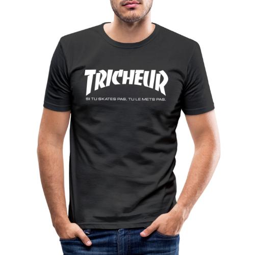 skateboard trasher tricheur - T-shirt près du corps Homme