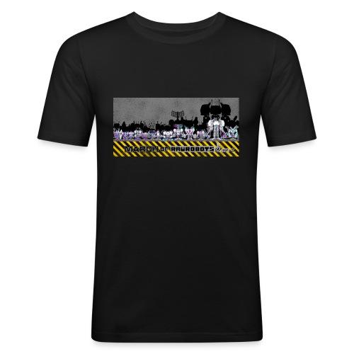 #MarchOfRobots ! LineUp Nr 2 - Herre Slim Fit T-Shirt