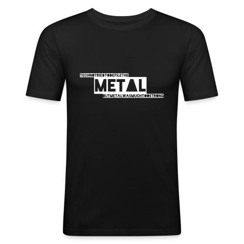 Techno vs. Metal - Männer Slim Fit T-Shirt