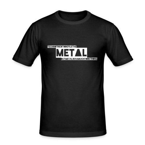 Techno vs. Metal - Männer Slim Fit T-Shirt