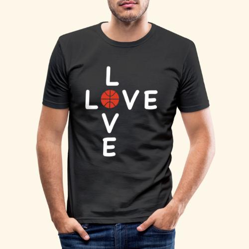 LOVE Cross basketball red 001 - Männer Slim Fit T-Shirt