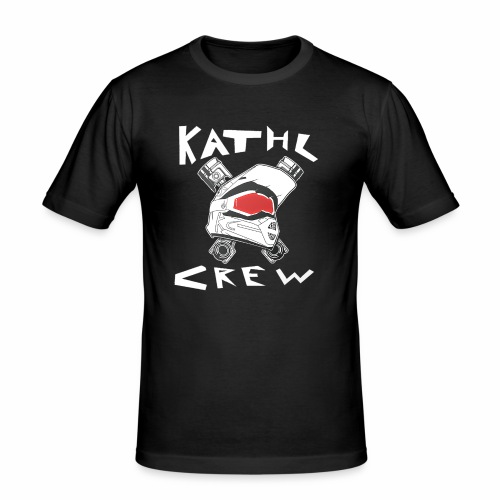 Kathl Crew Logo mit Schriftzug - Männer Slim Fit T-Shirt