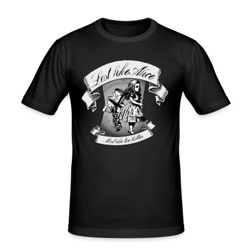 Lost like Alice, Mad like the Hatter - Men's Slim Fit T-Shirt