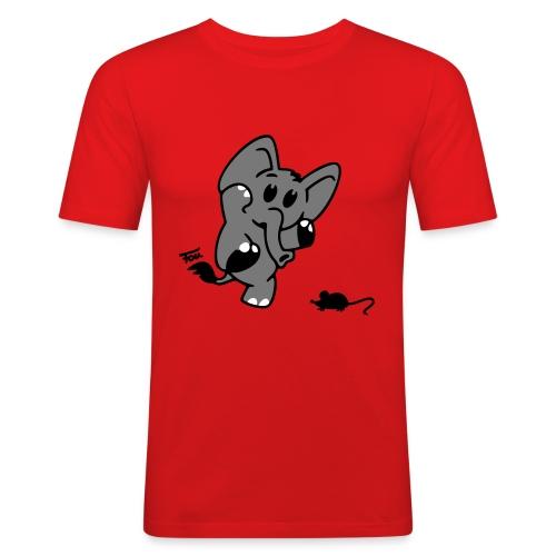 Elefant + Maus - colored - Männer Slim Fit T-Shirt