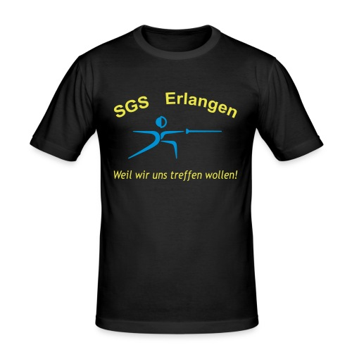 tshirt schriftzug trebuchet 3col - Männer Slim Fit T-Shirt