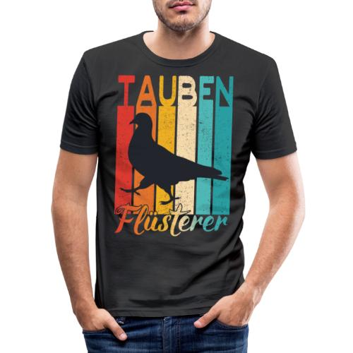 Tauben Flüsterer - lustiges Brieftauben Züchter - Männer Slim Fit T-Shirt