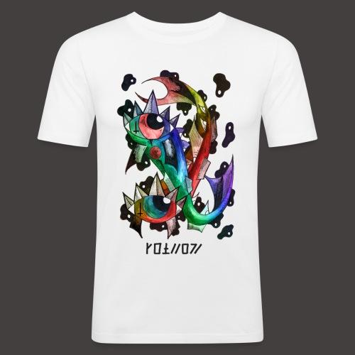 Poisson multi-color - T-shirt près du corps Homme