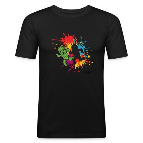 Splashed cactuar - T-shirt près du corps Homme