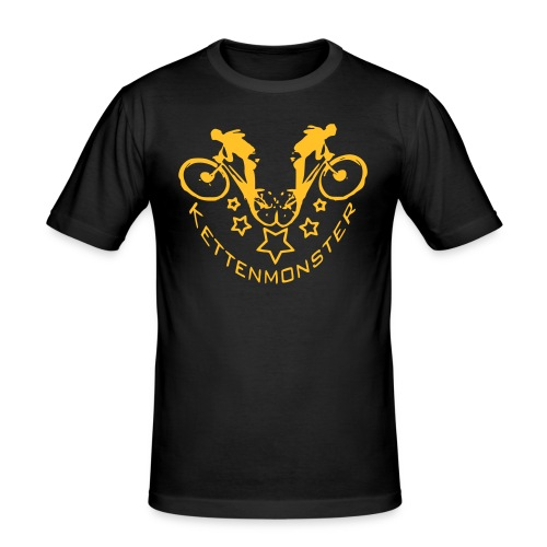 Kettenmonster Biker - Männer Slim Fit T-Shirt