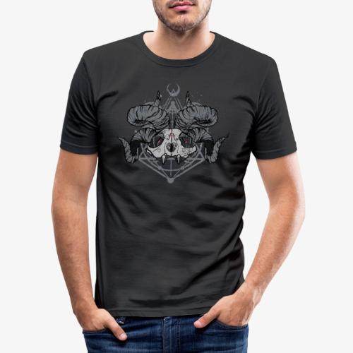 FRONT PRINT:: Racoon Demonlord_by KAOZ ATTITUDE - Männer Slim Fit T-Shirt