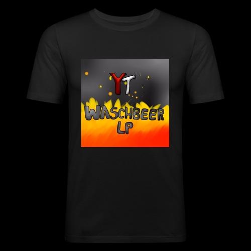 Waschbeer Design 2# Mit Flammen - Männer Slim Fit T-Shirt