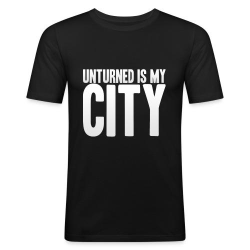 Unturned is my city - Men's Slim Fit T-Shirt