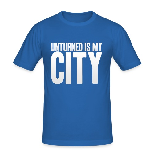 Unturned is my city - Men's Slim Fit T-Shirt