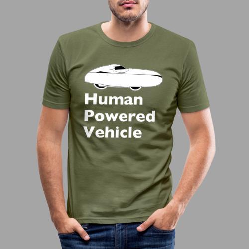 Quest Human Powered Vehicle 2 white - Miesten tyköistuva t-paita