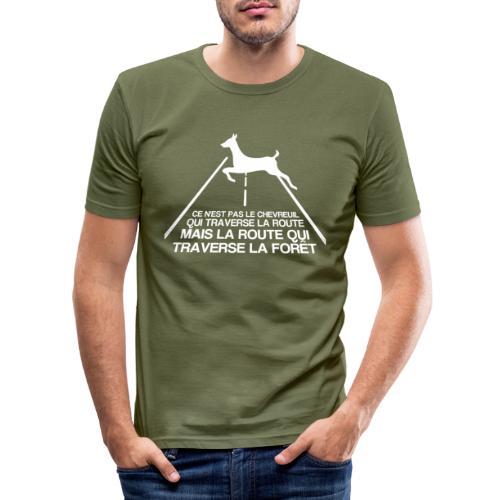 Chevreuil blanc - T-shirt près du corps Homme