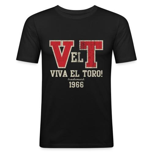 VIVA EL TORO! Collegiate Bulls - Maglietta aderente da uomo