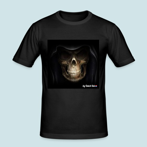 skull3 png - Mannen slim fit T-shirt