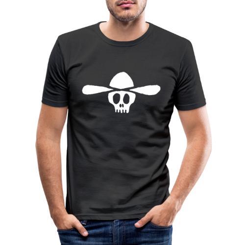 Totenkopf Kauboi - Männer Slim Fit T-Shirt
